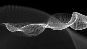 illustrazione 3d del fondo scientifico della struttura astratta dell'onda Fotografie Stock Libere da Diritti