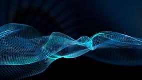 illustrazione 3d del fondo scientifico della struttura astratta dell'onda Fotografie Stock