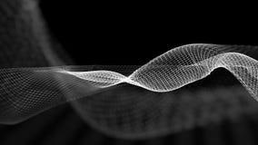 illustrazione 3d del fondo scientifico della struttura astratta dell'onda Fotografia Stock