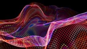 illustrazione 3d del fondo scientifico della struttura astratta dell'onda Immagini Stock Libere da Diritti