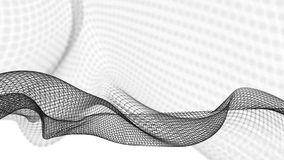 illustrazione 3d del fondo scientifico della struttura astratta dell'onda Fotografia Stock Libera da Diritti