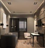 illustrazione 3D del gabinetto Fotografie Stock Libere da Diritti