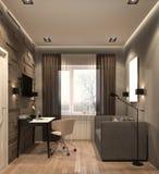 illustrazione 3D del gabinetto moderno Immagine Stock