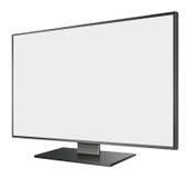 illustrazione 3D del LED TV nella vista di prospettiva Immagini Stock Libere da Diritti