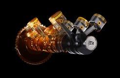 illustrazione 3d del motore Immagini Stock Libere da Diritti