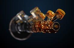 illustrazione 3d del motore Immagine Stock
