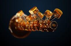 illustrazione 3d del motore Fotografia Stock Libera da Diritti