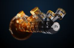 illustrazione 3d del motore Fotografia Stock