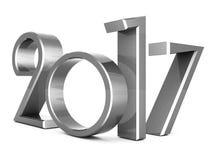 Illustrazione 3D del nuovo anno 2017 Immagini Stock Libere da Diritti