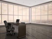 illustrazione 3d del posto di lavoro moderno nell'ufficio Fotografie Stock Libere da Diritti
