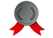 illustrazione 3D del premio d'argento Immagine Stock