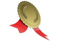illustrazione 3D del premio dell'oro Fotografie Stock