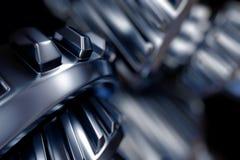 illustrazione 3d del primo piano delle ruote di ingranaggio del metallo Fotografia Stock Libera da Diritti