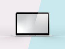 illustrazione 3D del taccuino sul fondo semplice della menta di rosa pastello Illustrazione di Stock