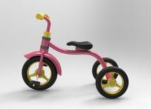 illustrazione 3d del triciclo di bambini Immagine Stock