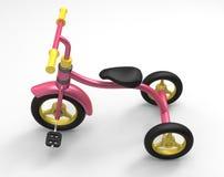 illustrazione 3d del triciclo di bambini Fotografia Stock Libera da Diritti