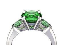 illustrazione 3D dell'anello con il diamante Priorità bassa nera dei monili del tessuto dell'argento e dell'oro Fashio Immagini Stock