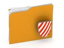 illustrazione 3d dell'icona della cartella di sicurezza - concetto di sicurezza - 3d Fotografia Stock Libera da Diritti