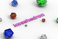 illustrazione 3d dell'icosaedro Royalty Illustrazione gratis