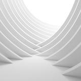 illustrazione 3d dell'interno bianco della colonna Industriale creativo Co illustrazione di stock