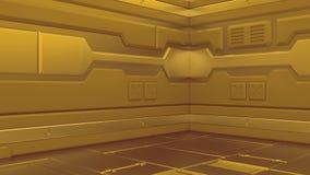 illustrazione 3d dell'interno futuristico dell'astronave di progettazione royalty illustrazione gratis