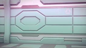 illustrazione 3d dell'interno futuristico dell'astronave di progettazione illustrazione vettoriale