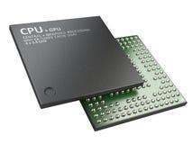 illustrazione 3d dell'unità dell'unità centrale di elaborazione del chip del CPU Fotografia Stock Libera da Diritti