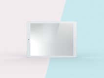 illustrazione 3D della compressa bianca sulla menta semplice Backg di rosa pastello Royalty Illustrazione gratis