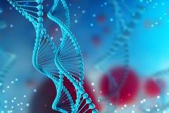 illustrazione 3d della molecola del DNA Molecola elicoidale di un nucleotide nell'ambiente dell'organismo illustrazione vettoriale