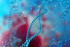 illustrazione 3d della molecola del DNA La molecola elicoidale blu di un nucleotide nell'organismo Genoma e modifica illustrazione vettoriale