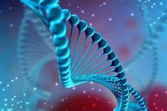 illustrazione 3d della molecola del DNA La molecola elicoidale blu di un nucleotide nell'organismo Genoma e modifica royalty illustrazione gratis