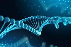 illustrazione 3d della molecola del DNA La molecola elicoidale di un nucleotide nell'ambiente dell'organismo come in spazio illustrazione vettoriale