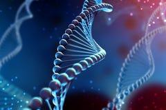 illustrazione 3d della molecola del DNA La molecola elicoidale di un nucleotide nell'ambiente dell'organismo come in spazio royalty illustrazione gratis