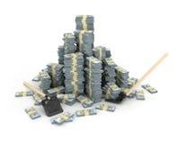 illustrazione 3d della pila dei dollari più Immagini Stock Libere da Diritti