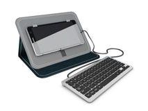 illustrazione 3d della tastiera per Smartphone Tastiera per il dispositivo mobile Immagine Stock