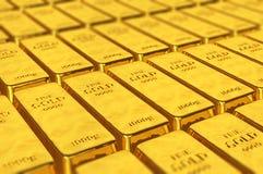 illustrazione 3D delle barre di oro Fotografia Stock Libera da Diritti