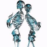 illustrazione 3d delle coppie di scheletro del metallo isolate su bianco illustrazione di stock