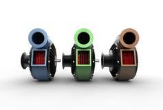 illustrazione 3D delle pompe di turbo Fotografia Stock