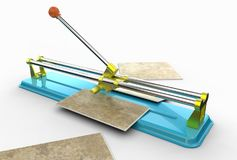 illustrazione 3D delle tagliapiastrelle Immagine Stock Libera da Diritti
