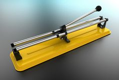 illustrazione 3D delle tagliapiastrelle Fotografia Stock