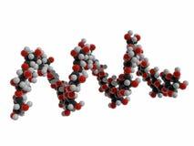 illustrazione 3d di amido, biomolecola elicoidale dell'amilosio, polimero organico delle unità secondarie del glucosio illustrazione vettoriale