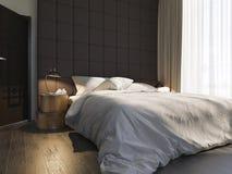 illustrazione 3d di interior design della camera da letto illustrazione vettoriale