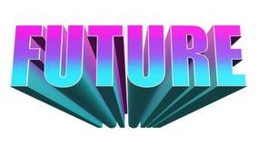 illustrazione 3D di testo futuro su fondo bianco rappresentazione 3d illustrazione vettoriale