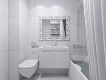 illustrazione 3d di un bagno di progettazione Fotografia Stock Libera da Diritti