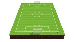illustrazione 3d di un campo di calcio royalty illustrazione gratis