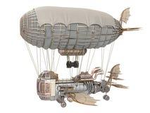 illustrazione 3d di un dirigibile di fantasia nello stile dello steampunk su fondo bianco isolato Fotografia Stock