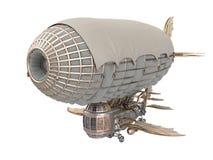 illustrazione 3d di un dirigibile di fantasia nello stile dello steampunk su fondo bianco isolato illustrazione di stock