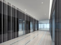 illustrazione 3d di un ingresso moderno dell'elevatore Fotografia Stock