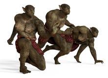 illustrazione 3D di un mostro dei mutanti isolato su bianco Fotografia Stock Libera da Diritti