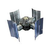 illustrazione 3D di un satellite Immagini Stock